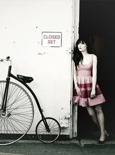 Zooey Deschanel...love her. Definitely one of my top fashion style icons