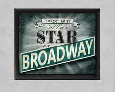 Broadway Star 8x10 photographic print New York by quotograph, $25.00