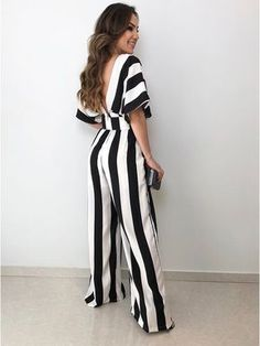 ad2b39f48a Macacao Pantalona Luci. Stripped PantsDress BrandsCrepesOverallsJumpsuitsCool  ClothesSilk JumpsuitJumpsuits For LadiesCasual Dresses