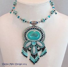For Gracie  March EBWC Am I Blue Bead by DaynaMilesDesigns on Etsy, $130.00