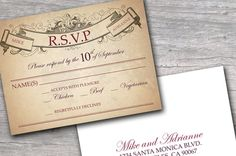 "RSVP Cards: Like how this says ""name(S)"""