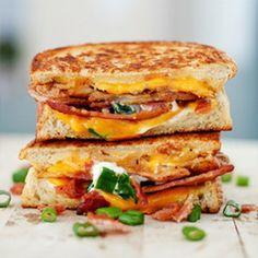Deconstrucción de sandwich de bacón y #queso