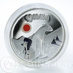 Cook Islands 5 dollars Cartoon Umka Bear Sojuzmultfilm silver proof coin 2011