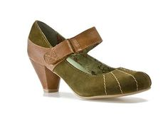 i need a low-heel green pump for work