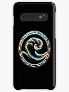 'Wave free your mind and go with the flow.' Case/Skin for Samsung Galaxy by NocturnDesign Deep Sea, Laptop Skin, Ipad Case, Jewelry Shop, Protective Cases, Decorative Throw Pillows, Sculpting, Flow, Iphone Cases
