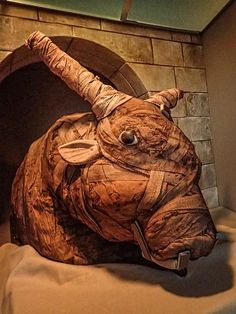 Carefully wrapped Mummified bull containing only a jumble of bones 300 BCE - 400 CE Egypt Ancient Egyptian Religion, Ancient Art, Ancient History, Egyptian Mummies, Visit Egypt, Egypt Travel, Archaeology, Lion Sculpture, Statue