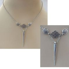 Silver Celtic Knot Chain Necklace Jewelry Handmade NEW Fashion Accessories #handmade