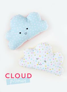 Could @Kelle Boyd's cloud pillow designs be any cuter? These are the most fun pillows to sew around, and they'll be loved by people of all ages. You can even stitch on a little face to add some extra personality.