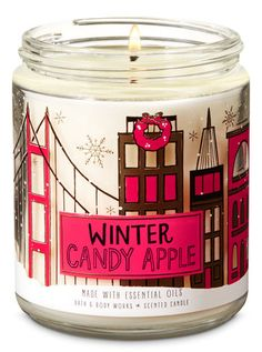 Best Bath And Body Works Candles Winter Candy Apples Ideas Bath Candles, Mini Candles, 3 Wick Candles, Scented Candles, Candle Jars, Bath Body Works, Best Smelling Candles, Winter Candy Apple, Essential Oil Candles