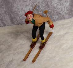 Vintage Klumpe Roldan Boy Skier Cloth Doll!