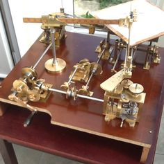 Hand-cranked geared harmonograph by Mr John Austin of Kent--refurbished by Ray Henville