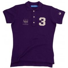 Ladies Crest Polo Shirt - Purple £80.00- Large twill numbers on right breast and left sleeve. Embroidered on the left breast is the Polistas logo.