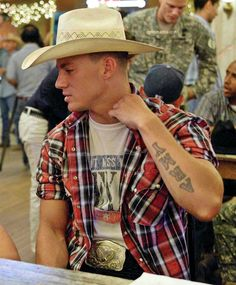 channing as a cowboy!
