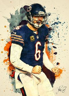 Jay Cutler, Chicago Bears by Taylan Soyturk. Canvas Wall Art, Wall Art Prints, Canvas Prints, Jay Cutler, Football Art, Football Pictures, Iron Art, Sports Art, Art Pages