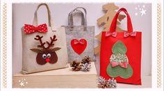 """""""Christmas Bag"""": shopper in feltro senza cucire"""