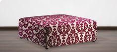 York Ottoman, 'Istanbul Rose', $629, Plush