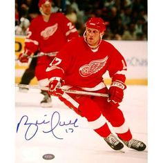 """Brett Hull Detroit Red Wings Fanatics Authentic Autographed 8"""" x 10"""" Looking Photograph - $109.99"""