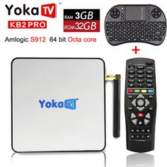 Original YOKA KB2 PRO Android 6.0 Octa Core smart TV Box Amlogic S912 Support IPTV BT 4.0 Streaming Media Player set top box (32796402133)  SEE MORE  #SuperDeals