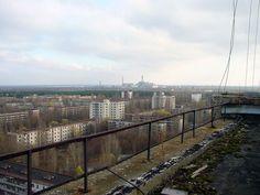 pripyat depuis la central de tchernobyl