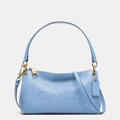 Embossed Horse and Carriage Charley Crossbody in Pebble Leather