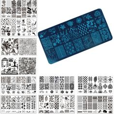 1 Pcs Nail Art Stamp Stamping Image Plate 6*12cm Stainless Steel Nail Template Manicure Stencil Tools, 20 Styles For Choose -- You can get more details by clicking on the image.