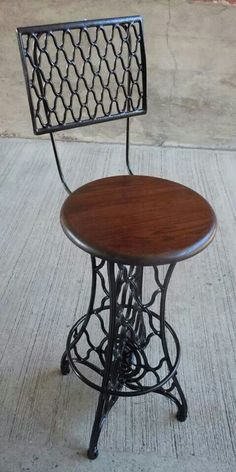 Old sewing machine into chair