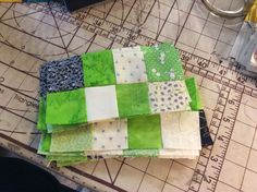 Not enough greens so I am forced to use some far more than others. Curious to know how this will fit in. Far More, Enough Is Enough, Pot Holders, Illusions, Mystery, Quilts, Fit, Comforters, Hot Pads