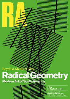 Harry Pearce, Poster for 'Radical Geometry' Royal Academy of Arts