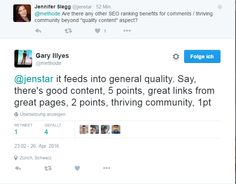 Seiten mit einer regen Community werden bevorzugt, sagt Googles Gary Illyes:  #seonerd