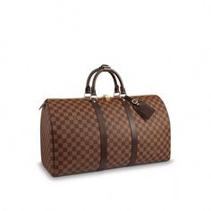 View 1 - Damier Ebene PERSONALIZATION HOTSTAMPING Keepall 50  3933a552ca250