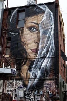 ღღ Street Art by Adnate, Fitzroy Murals Street Art, Street Wall Art, Urban Street Art, Graffiti Murals, Street Art Graffiti, Urban Art, Banksy, Tachisme, Best Graffiti