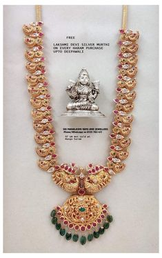 Gold Temple Jewellery, Gold Wedding Jewelry, Gold Jewelry Simple, Bridal Jewelry, Pearl Necklace Designs, Gold Earrings Designs, Gold Necklace, Gold Bangles Design, Gold Jewellery Design