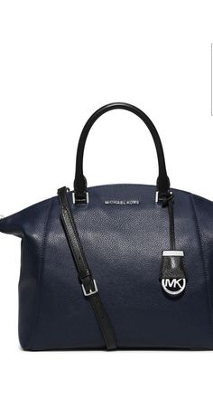 16197013df013f We love the way MICHAEL Michael Kors® Riley Large Pebbled-Leather Satchel  plays on that.