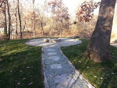 Crushed Gray Trap Path, Silvercreek Steppers, Interlok Fieldstone Patio, and Grand Fire Ring Silver Creek, Fire Ring, Yahoo Images, 1920s, Bungalow, Paths, Image Search, Landscaping, Sidewalk