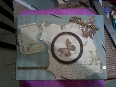 Porta documento elaborado em mdf e scrap decor