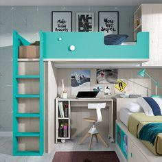 OLDSCHOOL KIDS 100 Bunk Beds For Boys Room, Beds For Small Rooms, Bunk Bed Rooms, Bunk Bed With Desk, Small Room Bedroom, Trendy Bedroom, Kid Beds, Boy Room, Kids Bedroom