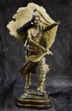 paintings of historical and romanticised american indians and their life | Marie Barbera Fine Bronze Figurative Sculptor of Native Americans ...
