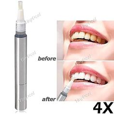 4 pcs Teeth Whitening Pen Tooth Brightening Pen Cleaner Brush Beauty Tool KB-391769