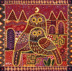 Artist Kitti Narod. Dot painting inspired by aboriginal art.