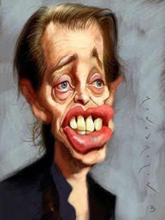 Steve Buscemi by Antonio Duran Andujar Cartoon Faces, Funny Faces, Cartoon Art, Steve Buscemi, Caricature Artist, Caricature Drawing, Funny Caricatures, Celebrity Caricatures, Sketch Manga