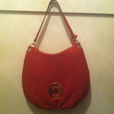 ⚡️FLASH⚡️Authentic Red Leather Michael Kors Hobo Red leather hobo Michael Kors handbag, nwt, never been worn, this price is a steal, no trades or holds Michael Kors Bags Hobos