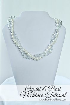 It is shockingly simple to make these stunning crystal and pearl bridal party necklaces! So pretty!