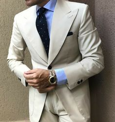 Save by Hermie Mens Fashion Suits, Mens Suits, Fashion Outfits, Male Fashion, Beige Suits, Designer Suits For Men, Formal Suits, Dress For Success, Well Dressed Men