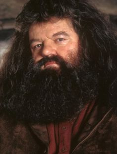 """Robbie Coltrane as """"Hagrid"""" from """"Harry Potter"""" movies."""