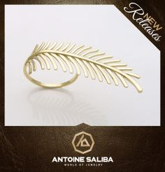 #Attractive #Plume #Ring 18Kt #Gold Check Details http://antoinesaliba.com/link.php?id=305 #AntoineSaliba #Jewelry #Designer #Beirut #Byblos #Lebanon