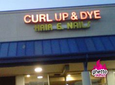 Ghetto hair and nail salons pop-up everywhere