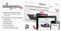 Elegant and responsive OpenCart Theme.  Choose your own colors& images, Google fonts, 960 grid system, SEO optimized, clean and modern, it doesn't replace core files.  #responsive #theme #template #opencart #elegance #ecommerce