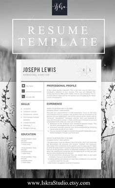 Pin By Iskra Studio On Resume Templates    Template