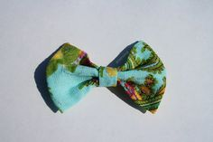 Large Paisley Pattern Handmade Fabric Bow by aneniine on Etsy, €4.00