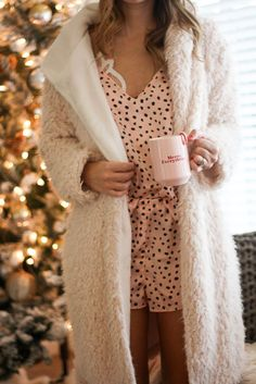 Stay cozy at home and on the go this winter with soft knits and loungewear/pjs from Topshop at Nordstrom! Sharing two looks for home and going out!